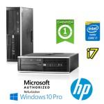 PC HP Compaq 8300 Elite Core i7-3770 3.4GHz 4Gb Ram 500Gb DVD SFF Windows 10 Professional