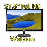 Monitor LCD 22 Pollici Asus VK228H Full HD LED 1920x1080 USB Webcam Black