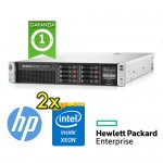 Server HP ProLiant DL380 G8 (2)Xeon Octa Core E5-2670V2 2.5GHz 128Gb Ram 2x300GB SAS (2) PSU Smart Array P420i
